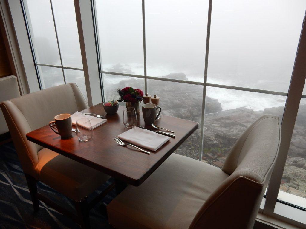 Breakfast overlooking Atlantic Ocean Cliff House ME
