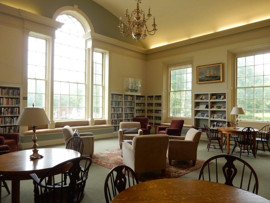 Camden ME Library interior