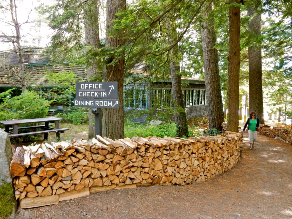 Check In Sign Migis Lodge on Sebabo Lake ME