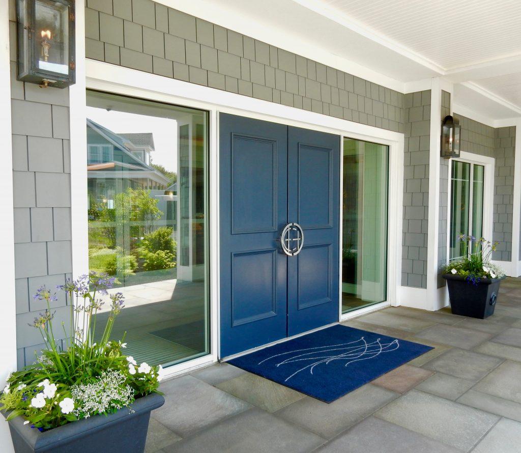 Blue front door Cliff House ME