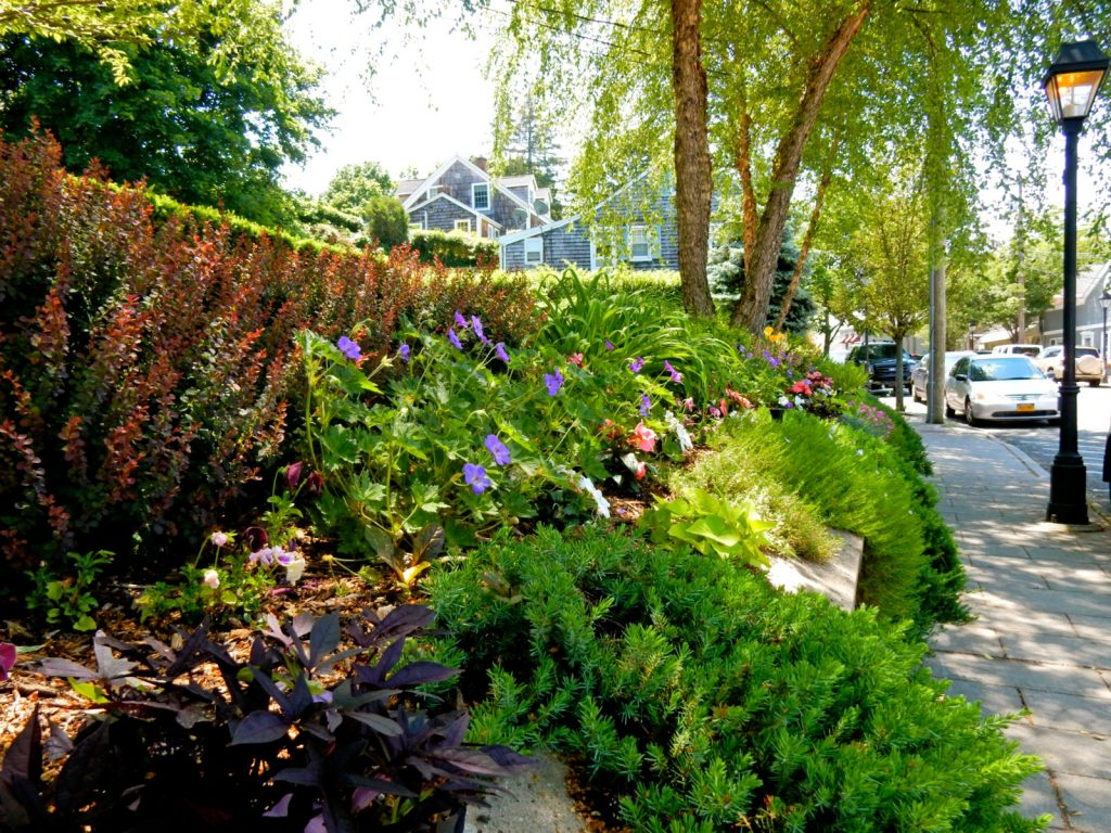 Garden on East Main St. Port Jefferson NY