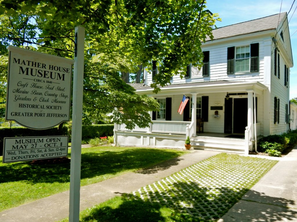 Mather House Museum exterior, Port Jefferson NY