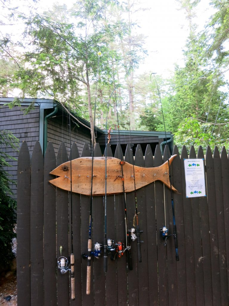 Migis Lodge Fishing Poles for guests