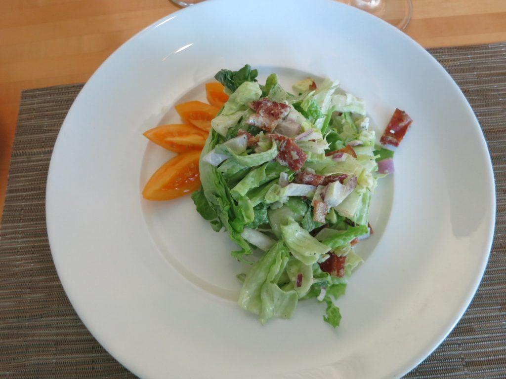 Salad, Morgan's Restaurant, Interlaken Inn, Lakeville CT