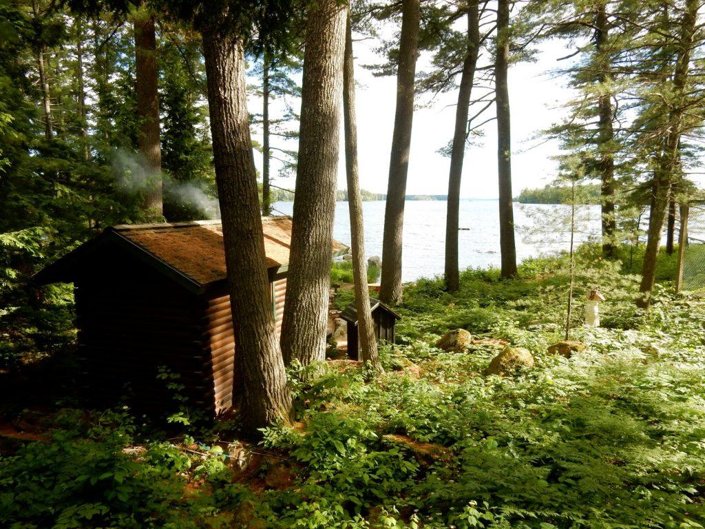 Sauna Shed Migis Lodge Sebago Lake ME