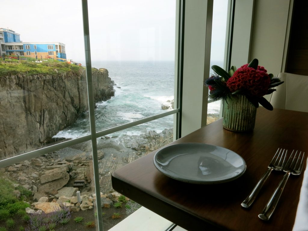 Overlooking ocean cliffs at Cliff House ME