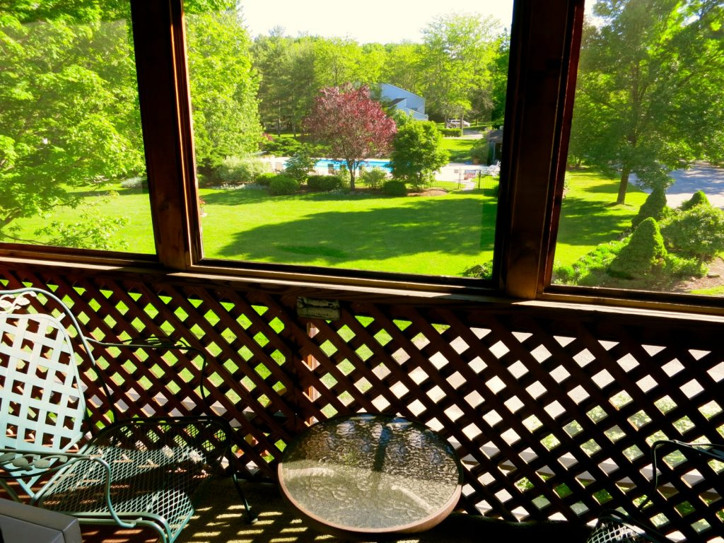 View from Balcony, Interlaken Inn, Lakeville CT