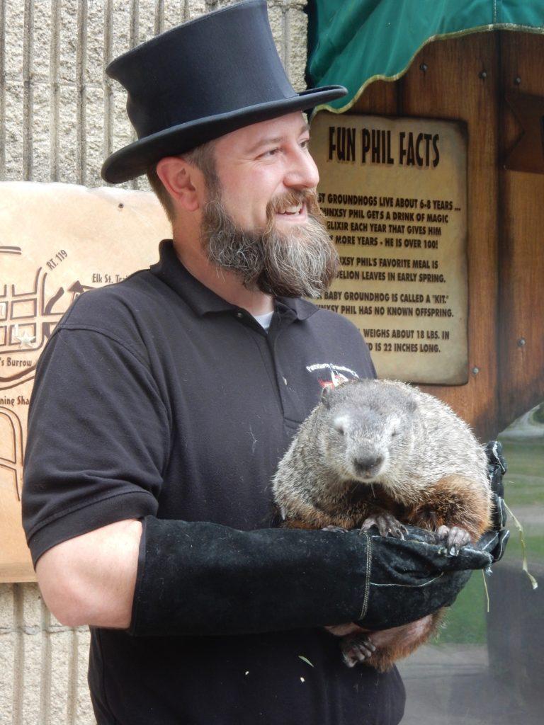 Groundhog Handler in Punxsutawney PA
