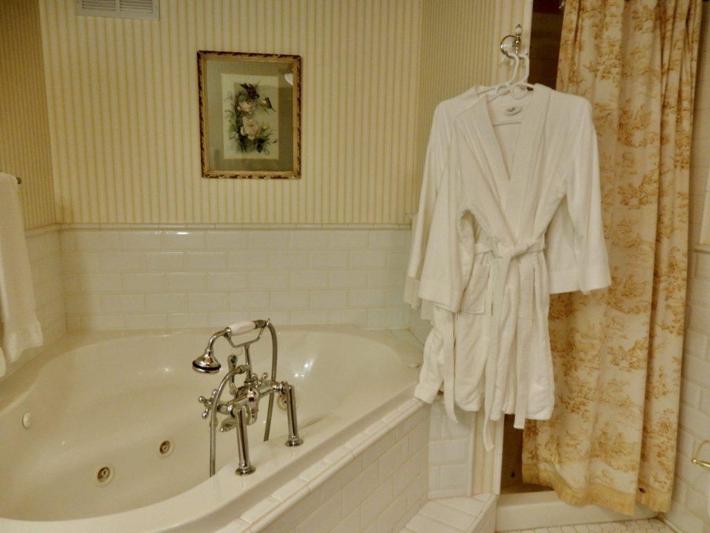 Springside Inn Tub and Bathrobe Auburn NY