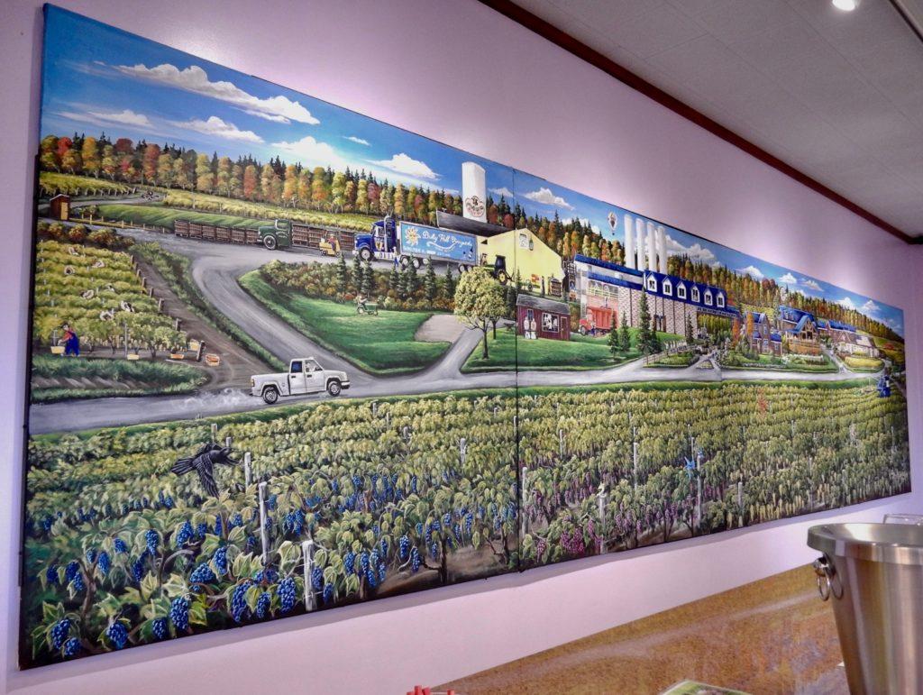 Bully Hill Vineyards Tasting Room mural NY