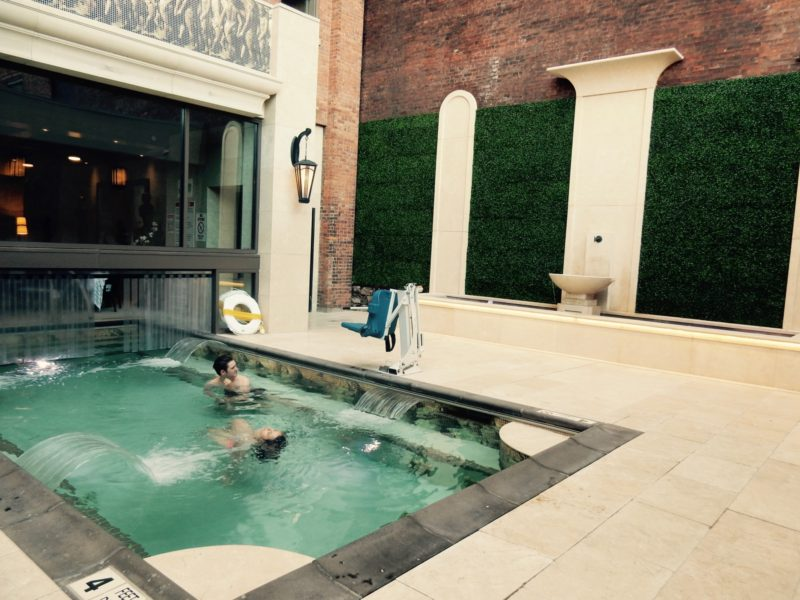 Urban hot springs at Curtiss Hotel in Buffalo NY