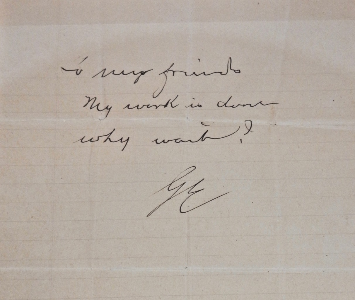 George Eastman Suicide Note Eastman Museum Rochester NY