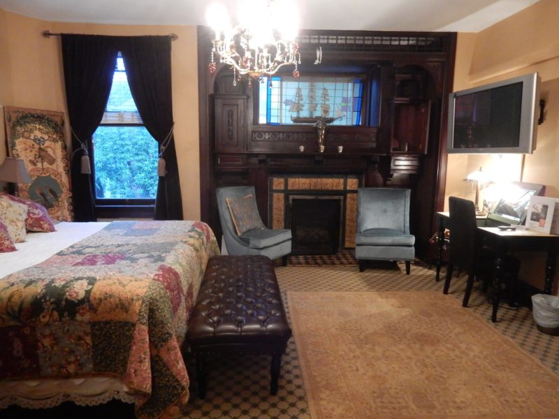 Baronial guestroom, Vandiver Inn, Havre de Grace MD