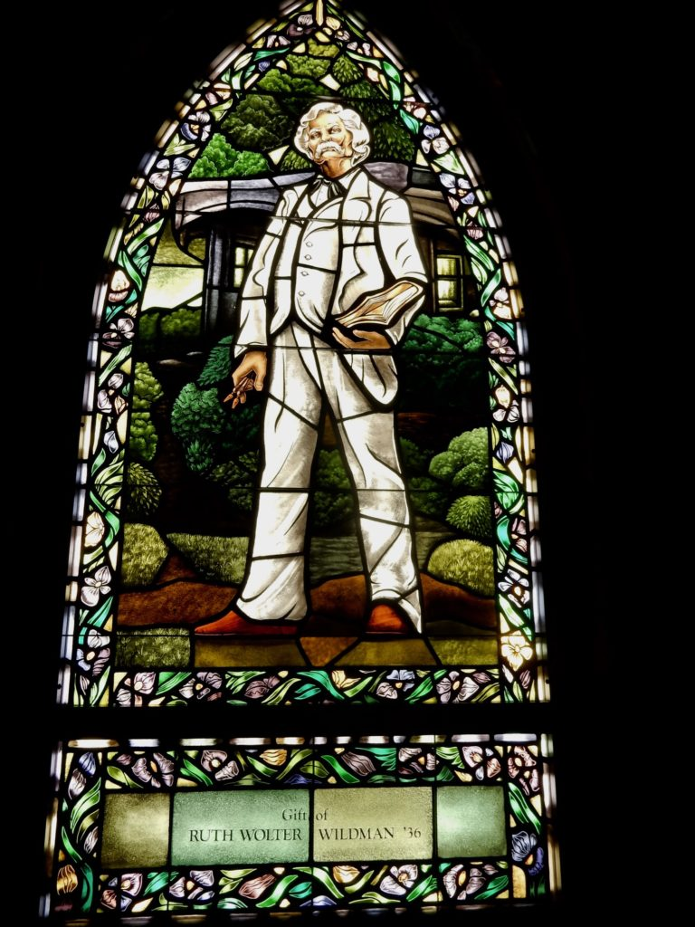 Stained Glass Twain Elmira College Chapel