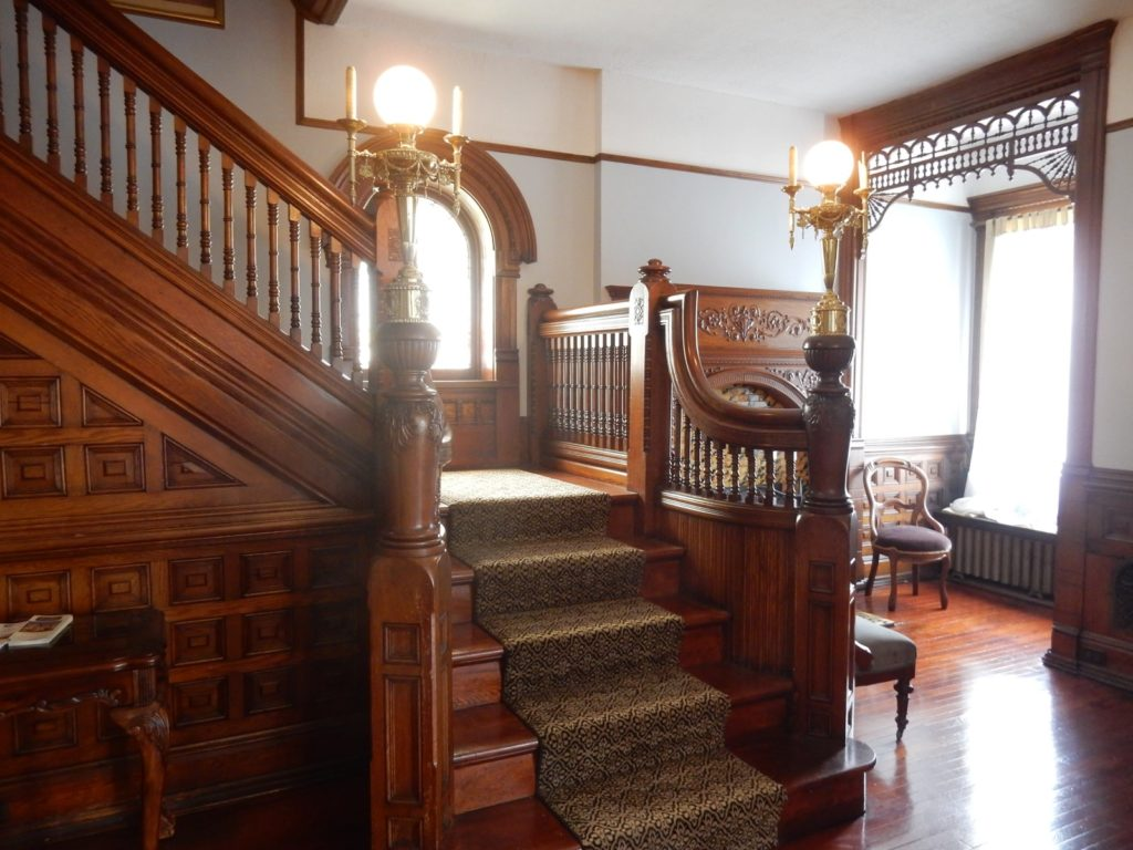 Gage Mansion Carved Wood Staircase Huntingdon PA