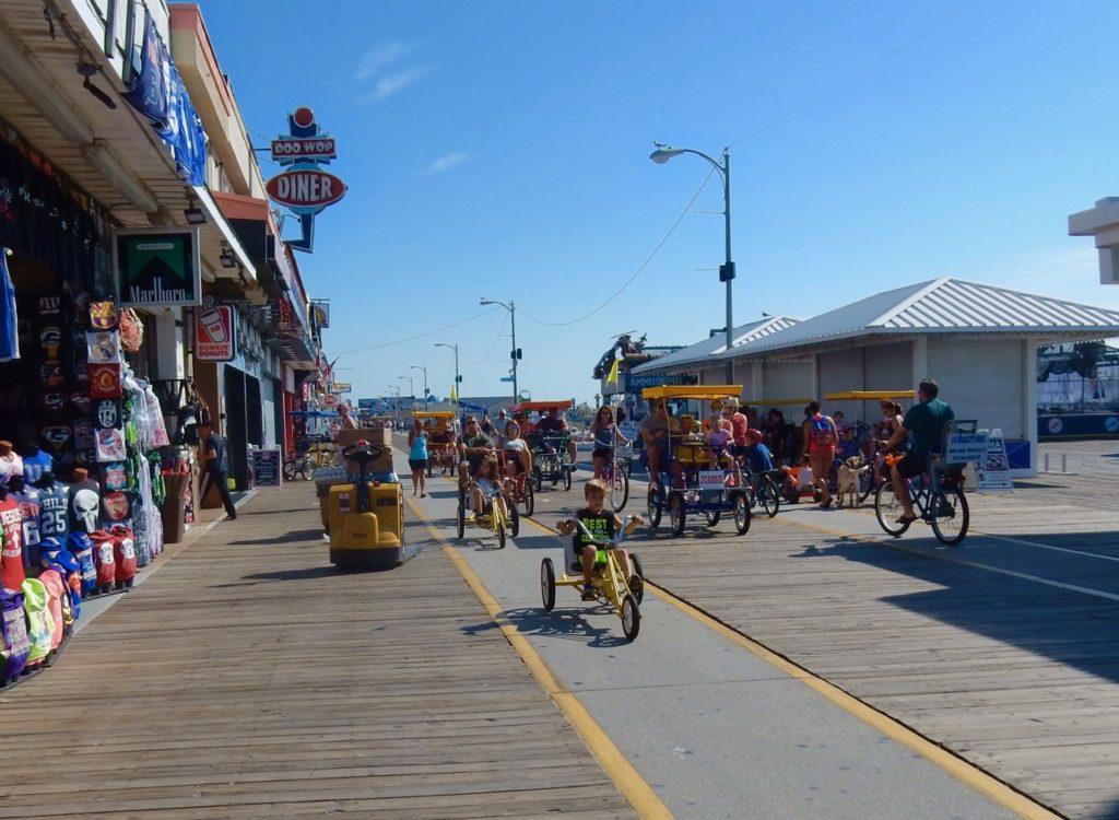 Morning Wildwoods Boardwalk NJ