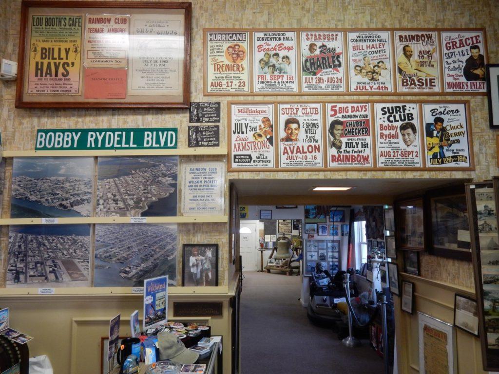 Music posters Wildwoods History Museum NJ
