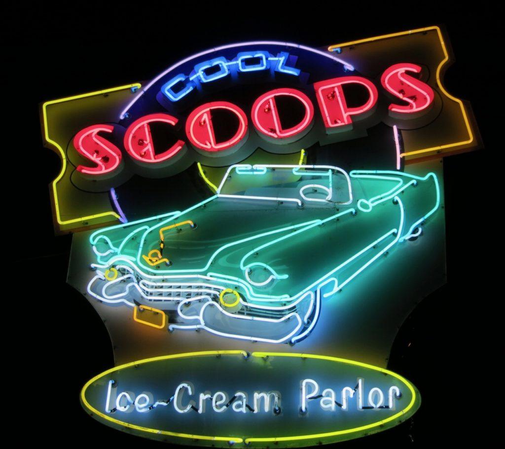 Scoops Neon Sign Wildwoods NJ