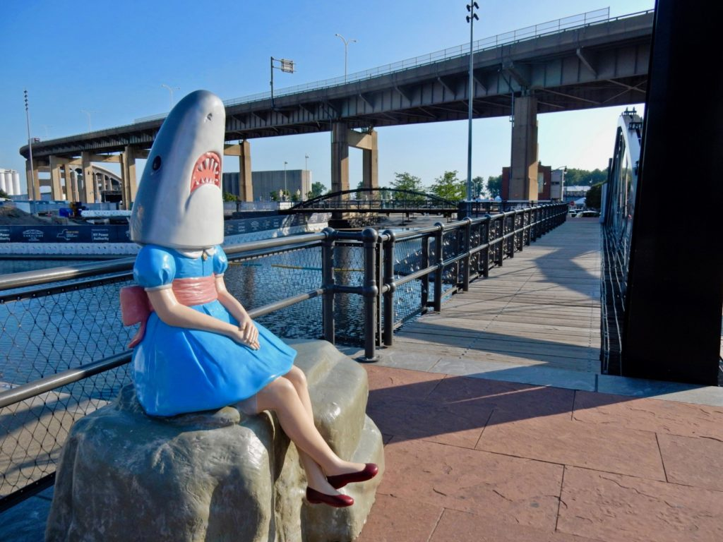 Shark Girl at Canal Side Buffalo NY