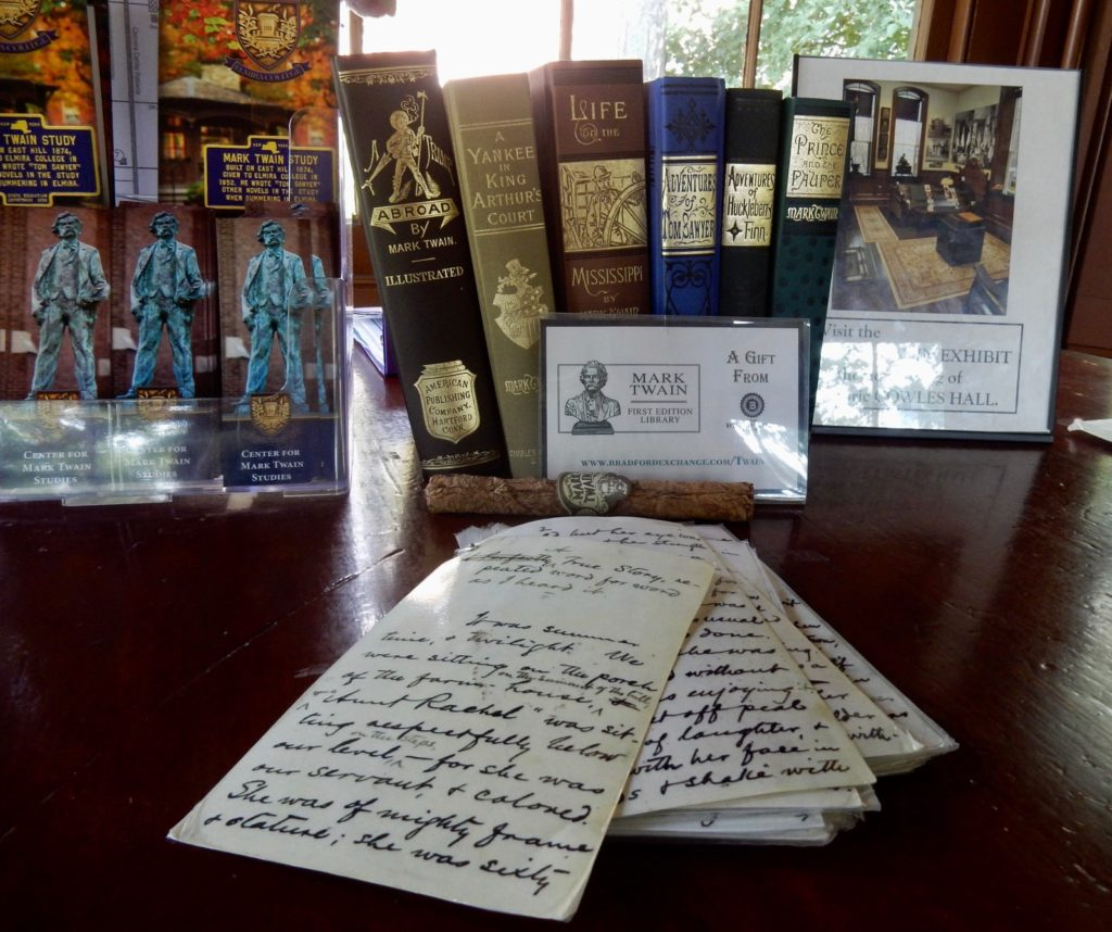 Artifacts in Mark Twain Study Elmira College NY