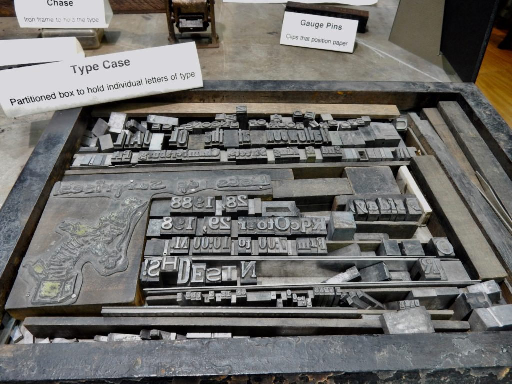 Type Face Isett Museum Huntingdon PA