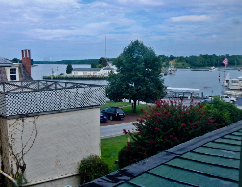 View from Inn at Canal, Chesapeake City MD