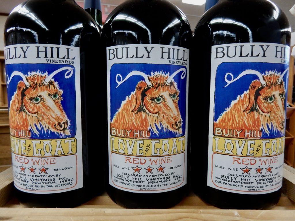 Walt Taylor Art Labels Bully Hill Vineyards NY