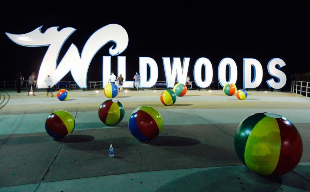 Wildwoods New Jersey sign greets you at the entrance to this Jersey Shore town