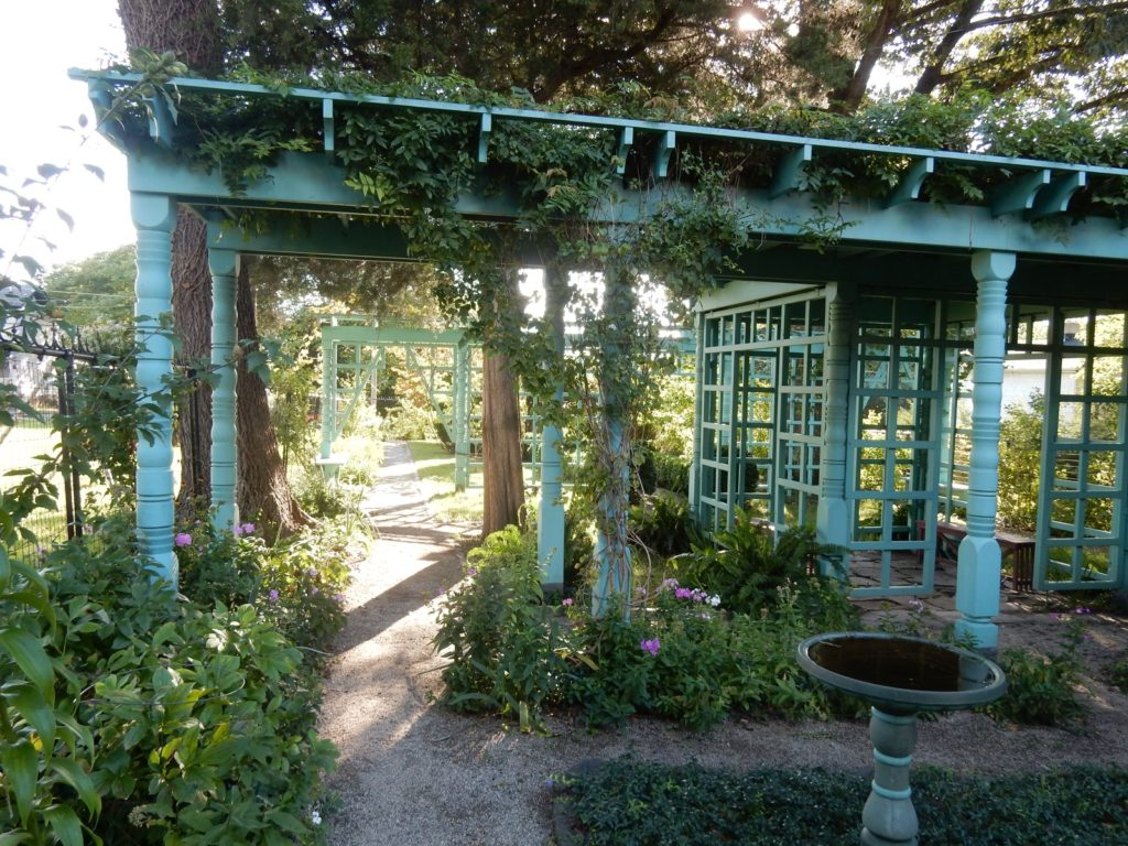 Garden pergola at Anne Spencer House in Lynchburg VA