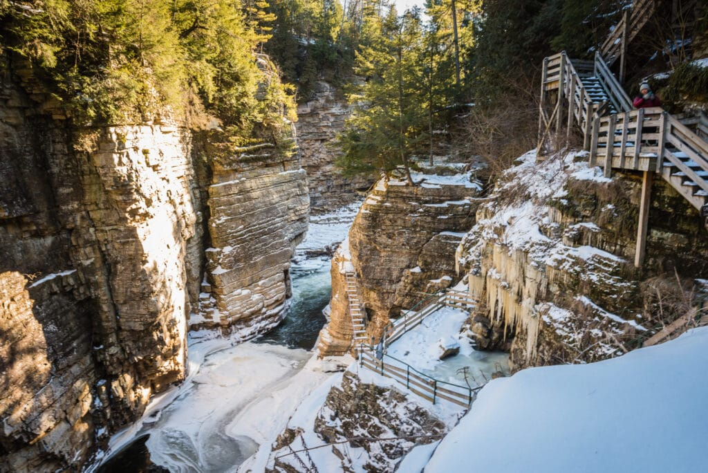 Ausable Chasm in Winter