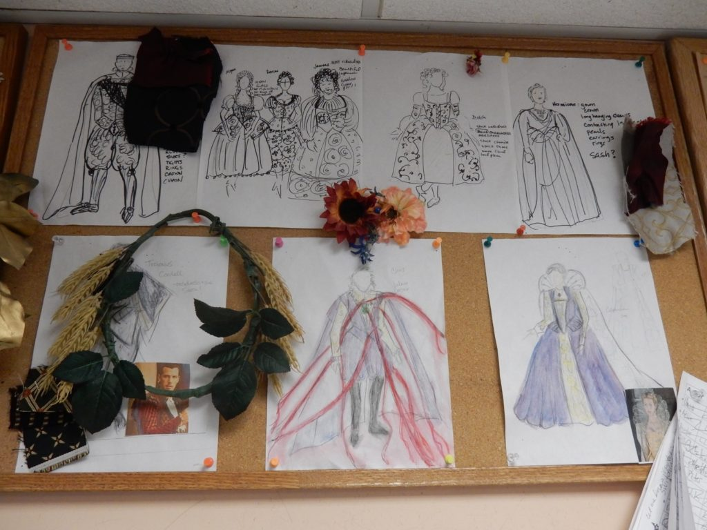 Costume sketches Blackfriar Theater Staunton VA
