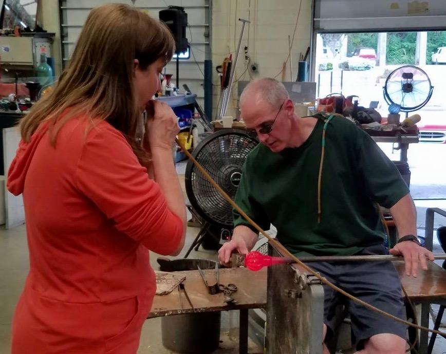 Glassmaking at Sunspots Studio Staunton VA