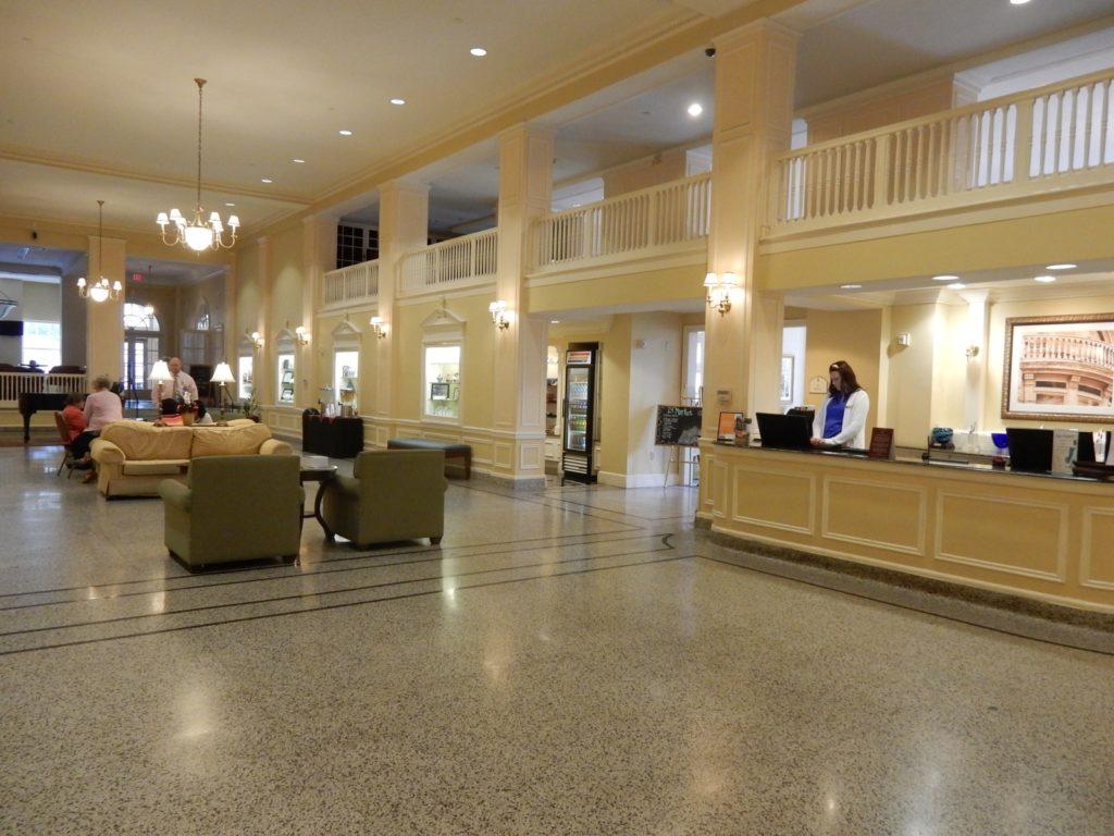 Lobby Stonewall Jackson Hotel Staunton VA