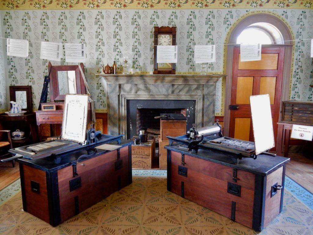 Parole Printing Presses, Clover Hill Tavern, Appomattox VA