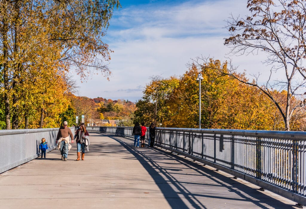 Fall foliage colors Walkway Over The Hudson River
