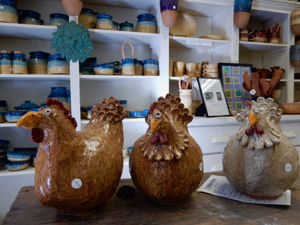 Chickens, Shiloh Pottery, Hampstead MD