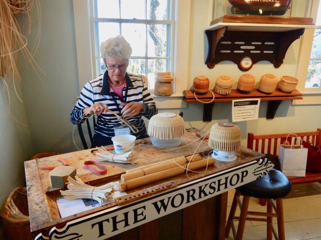 Eleanor Roethke, volunteer, Nantucket Lightship Basket Museum