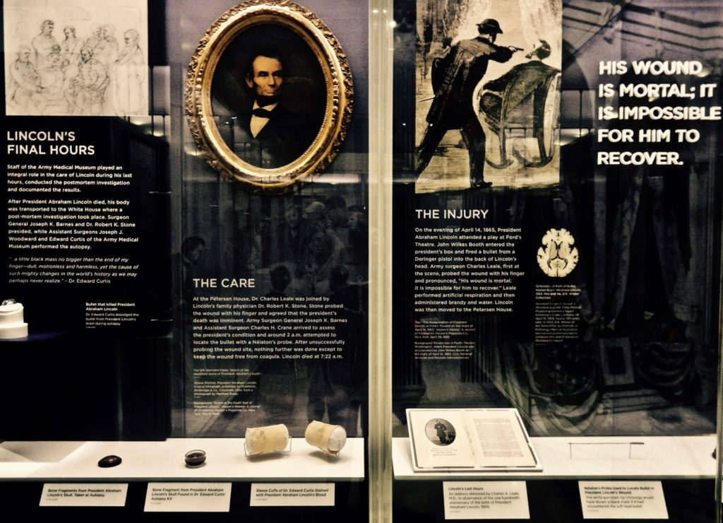 Lincolns Final Hours Exhibit - National Museum of Health and Medicine - Montgomery County MD