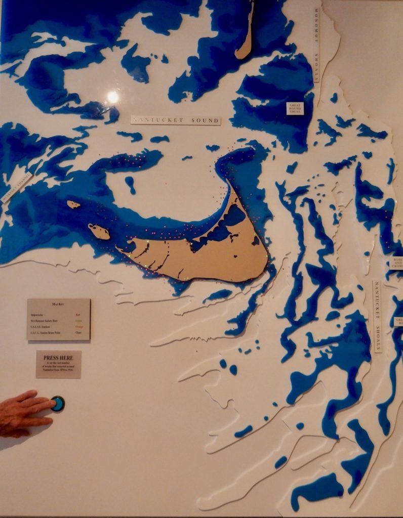 Map of Nantucket Shoals Shipwreck Lifesaving Museum