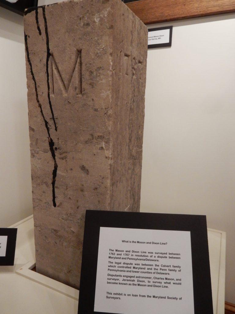 Mason-Dixon Marker, Taneytown Historical Museum MD