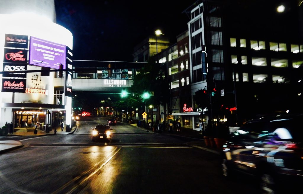 Night lights in Silver Spring, Maryland
