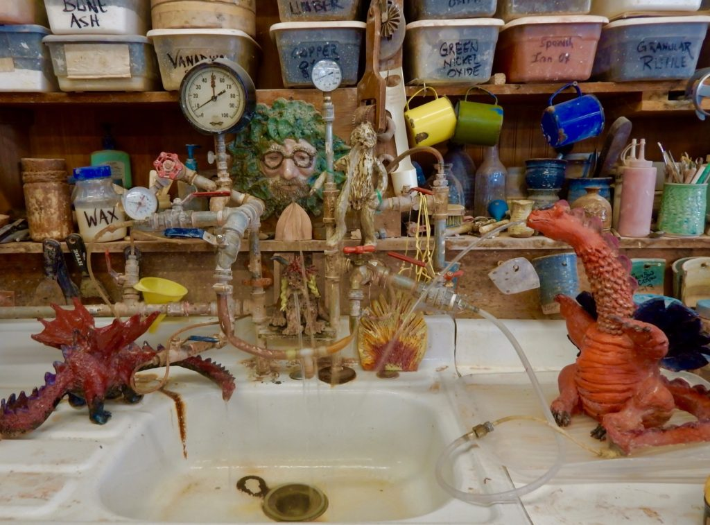 Sink Dragons Shiloh Pottery Hampstead MD