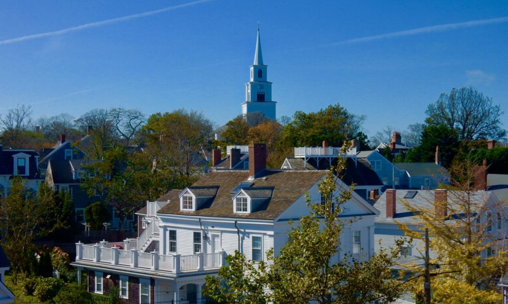 View from Whaling Museum Observation Deck, Nantucket MA