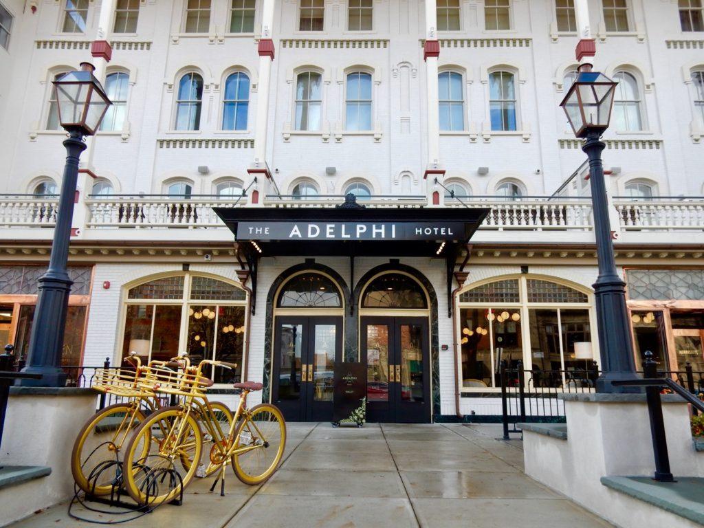 Adelphi Hotel Entrance, Saratoga Springs NY