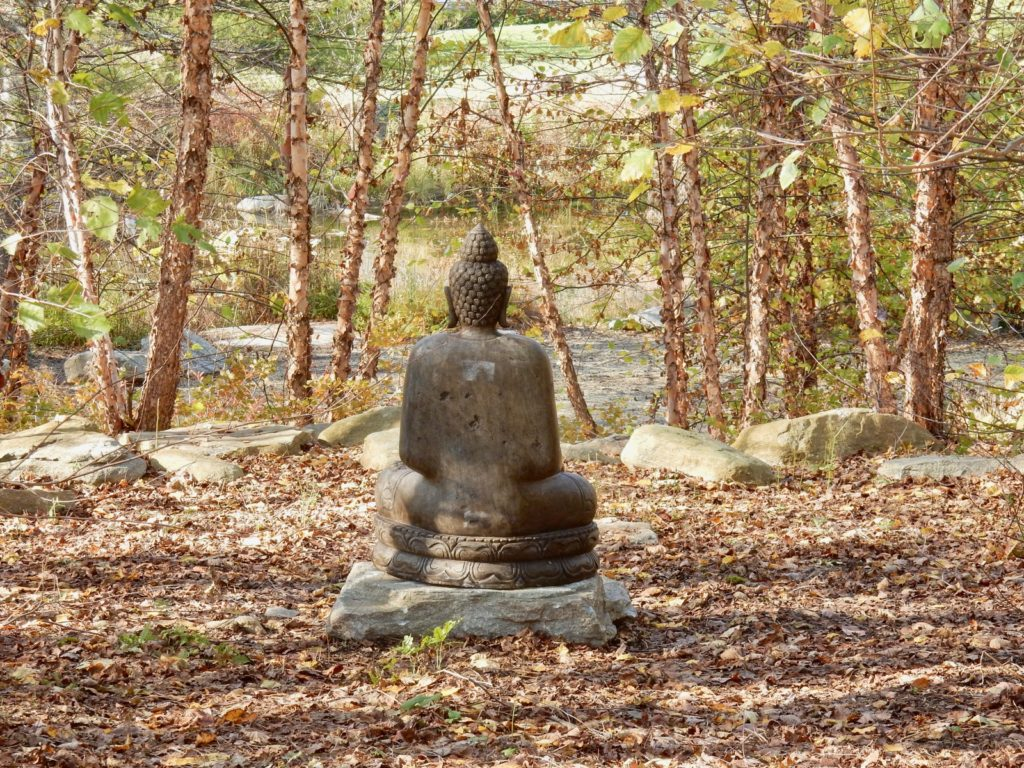 Buddha statue on grounds of Chatfield Hollow Inn Killingworth CT