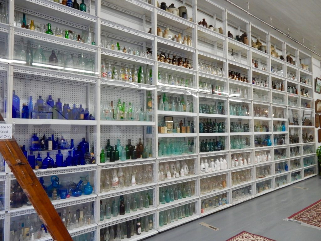 Wall of Glass Bottles National Bottle Museum Ballston Spring NY