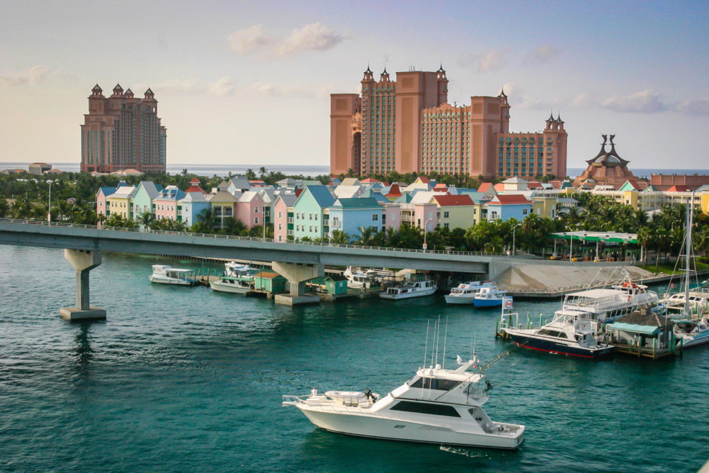 Nassau Bahamas marina and Atlantis Resort