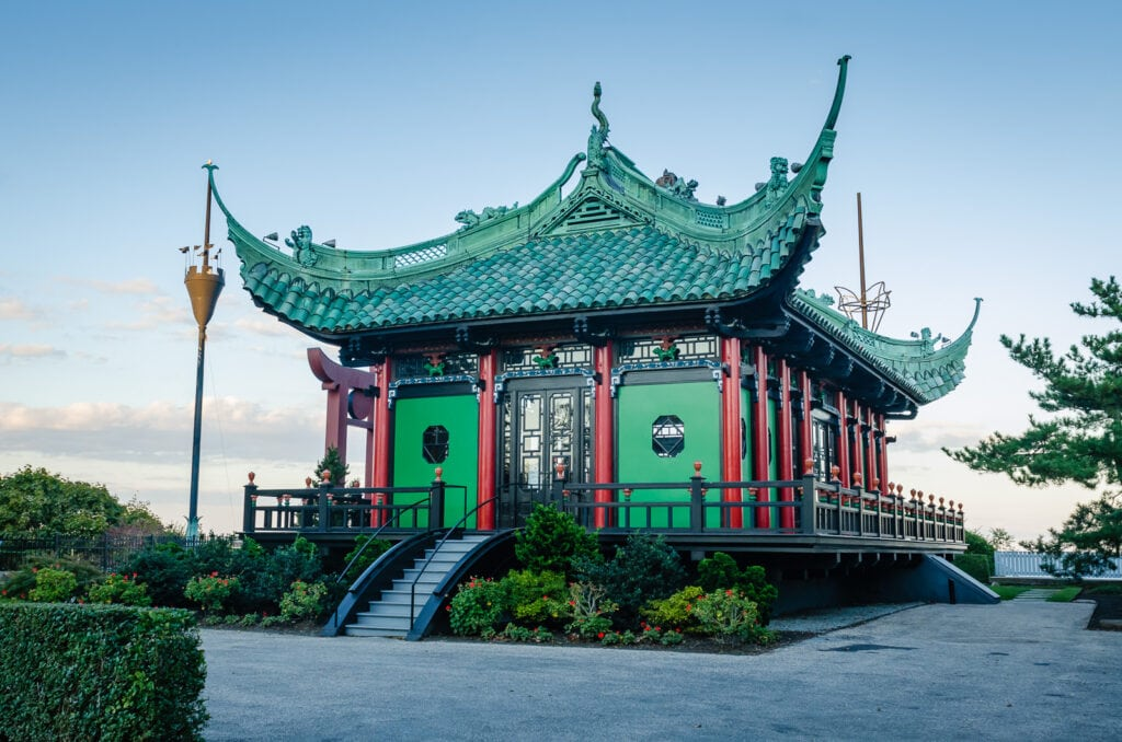 Chinese Tea House at Marble House in Newport RI