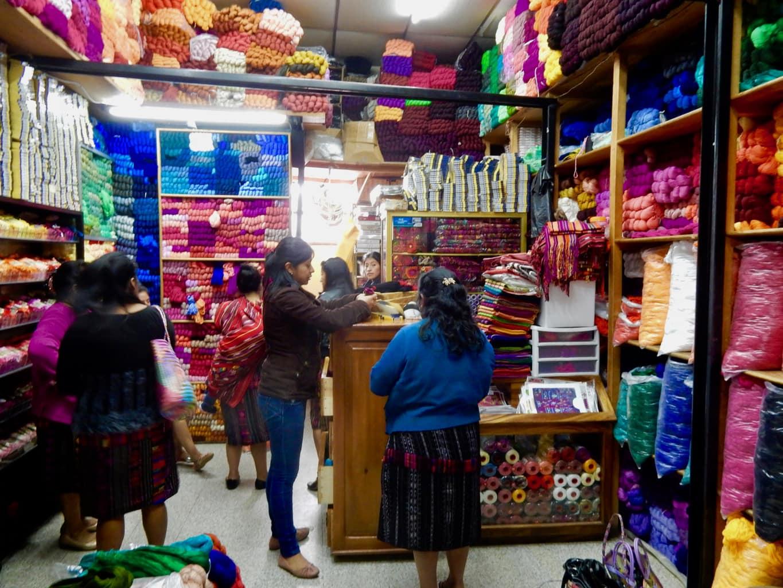 Yarn Shop Chichicastenango Guatemala