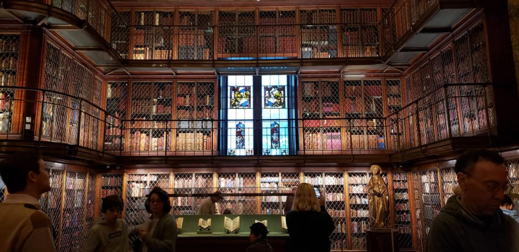 The Morgan Library is one of the most beautiful literary spots in Manhattan.
